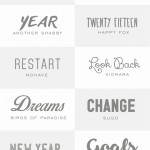 15 New Fonts to try in the New Year