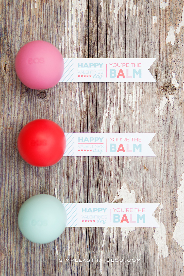 picture about You're the Balm Free Printable named EOS Lip Balm Valentines