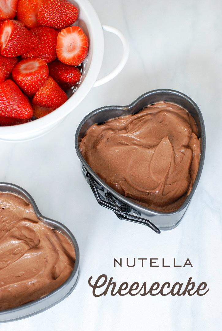 Simple, yet decadent No Bake Nutella Cheesecake