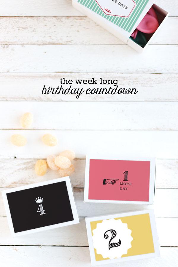 Week Long Birthday Countdown