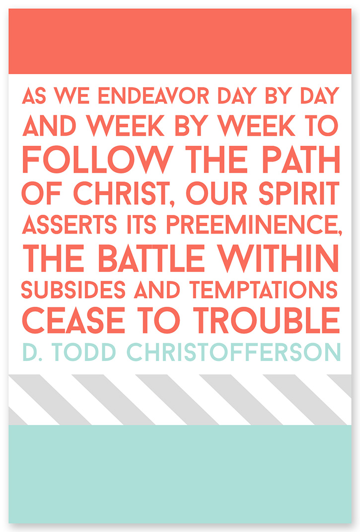 February 2015 LDS Visiting Teaching message.