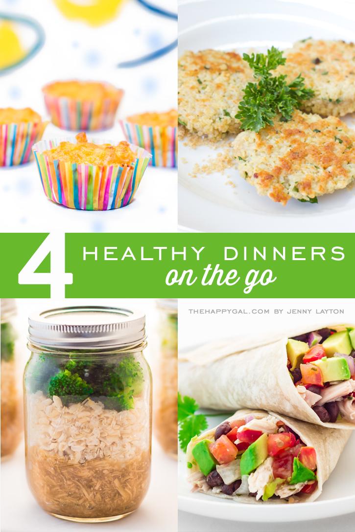 4 healthy dinners on the go
