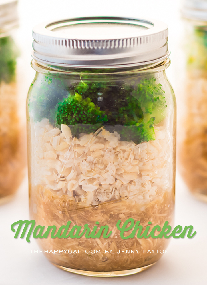 Mandarin Chicken in a Jar PLUS 3 more quick and easy, kid-friendly dinner ideas to keep your family eating healthy on the go!