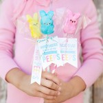 Peeps Pops with Free Printable Easter Gift Tags