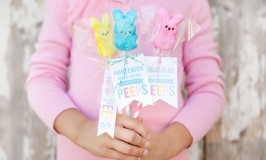 Peeps Pops with Free Printable Tags