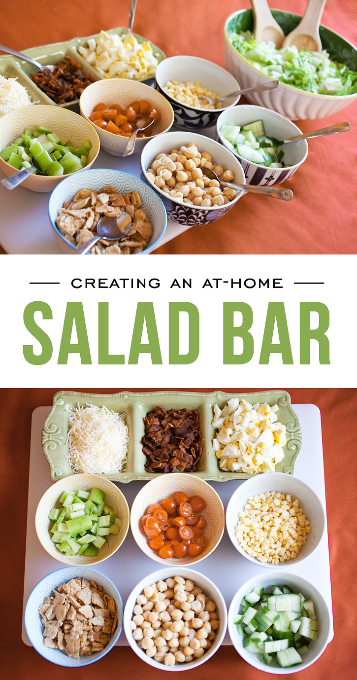 Creating an at home salad bar simple as that bloglovin for Creating a home bar
