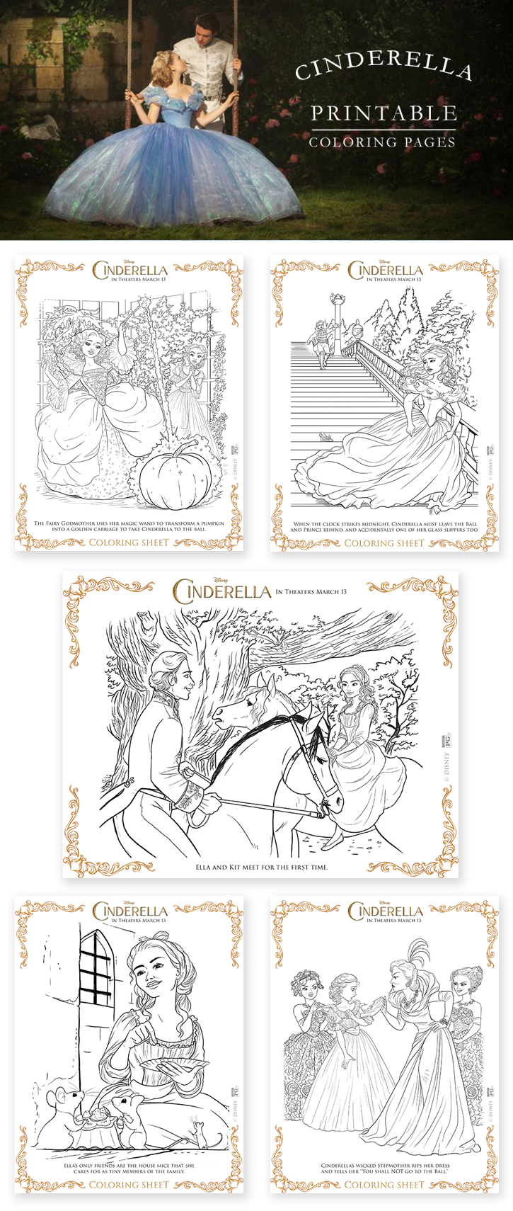Free Printable Cinderella Coloring Pages