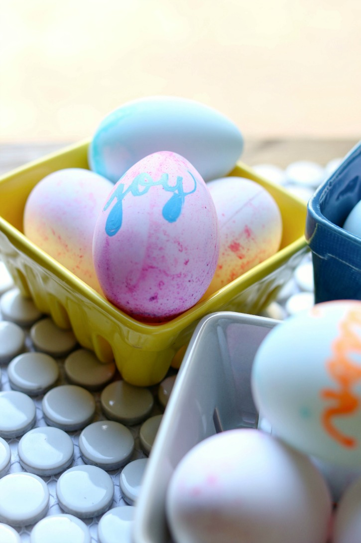 Printed craft eggs for Easter.