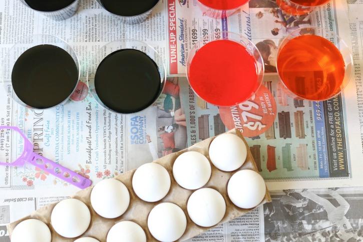 Egg dye for craft eggs.
