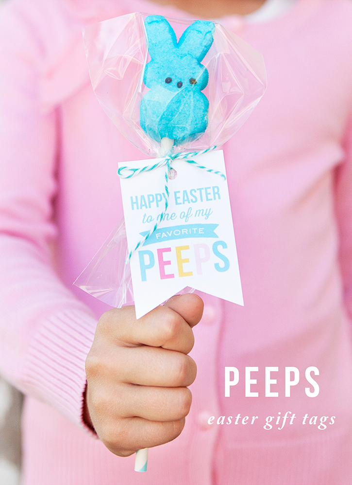 Peeps pops with free printable easter gift tags quick and easy peeps pops with free printable gift tags negle Images