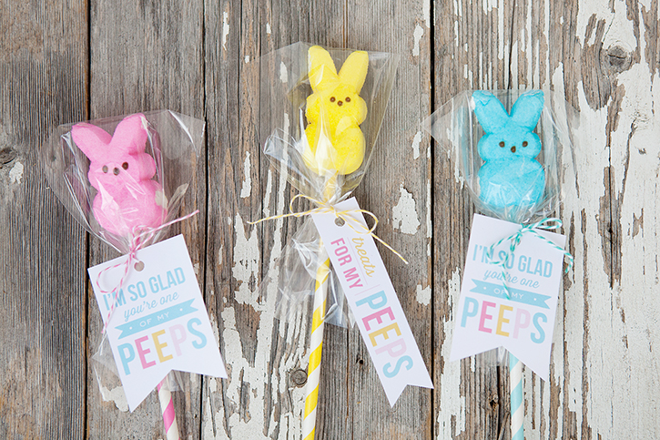 Peeps pops with free printable easter gift tags negle Gallery