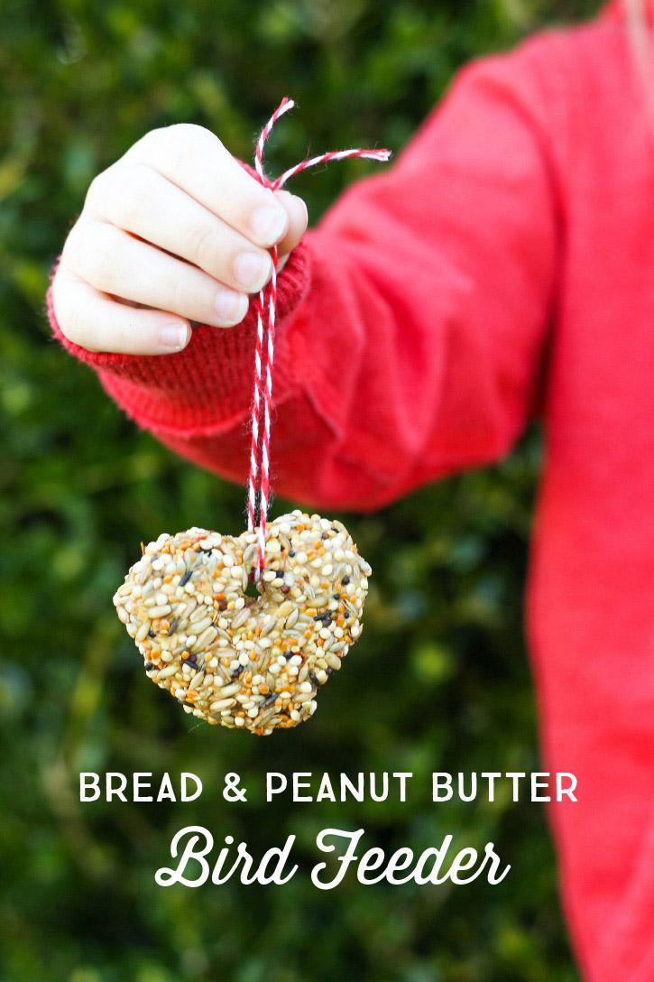 Kid Friendly Bread and Peanut Butter Bird Seed Feeder - a fun Spring craft