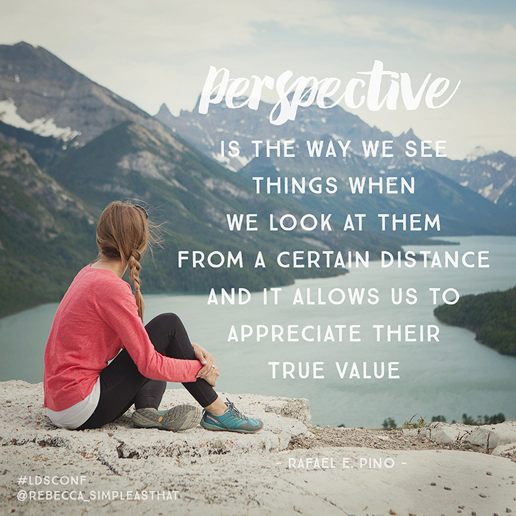 """Perspective is the way we see things when we look at them from a certain distance, and it allows us to appreciate their true value."" - Rafael E. Pino"