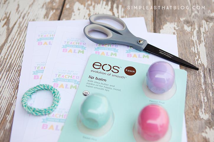 EOS You're the Balm Teacher Thank You Tags