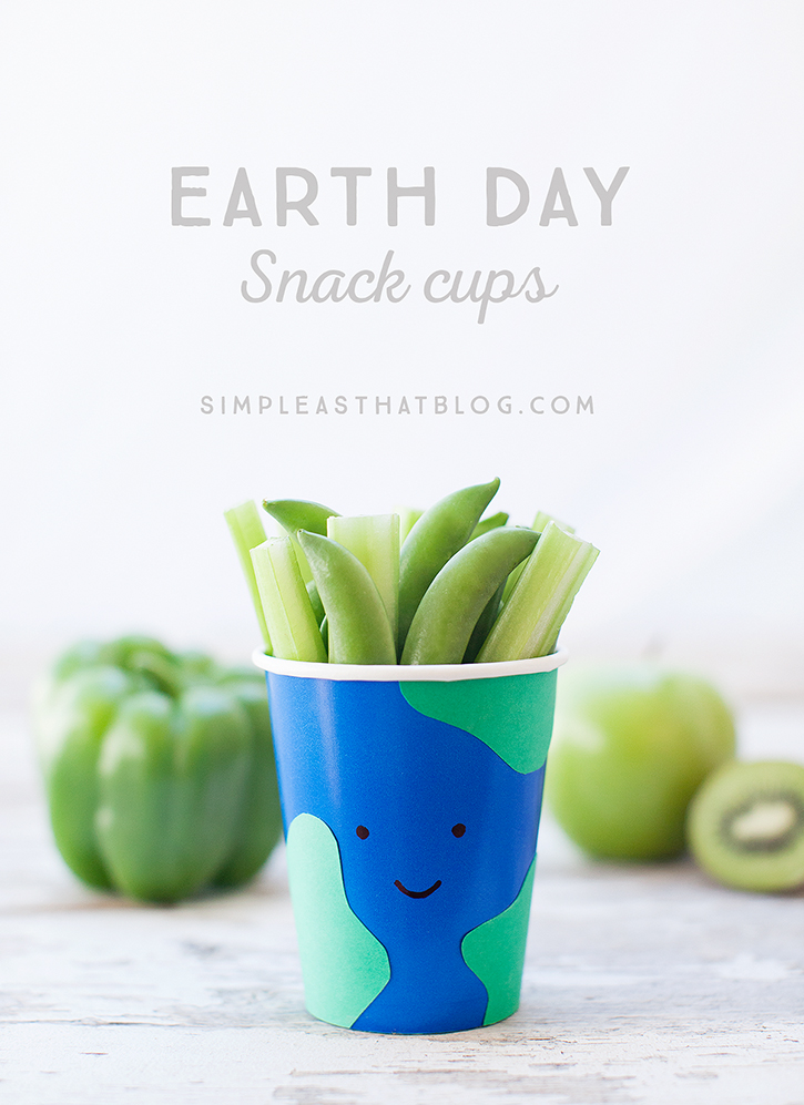 Go green this Earth Day! Make these easy Earth Day snack cups and enjoy 10 healthy, green snack ideas!