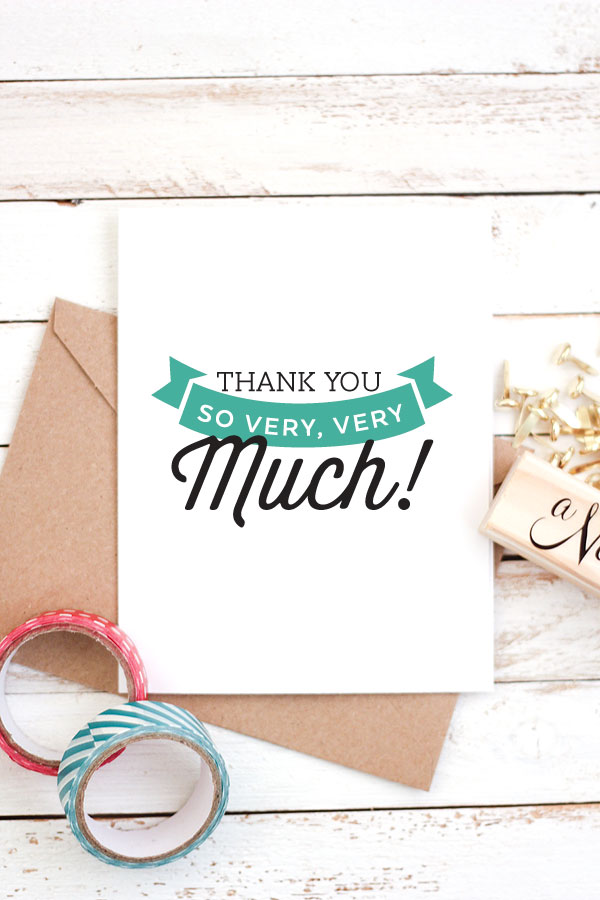 Exhilarating image throughout free printable thank you cards