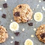 Featured Image - Healthy Chocolate Chunk Banana Oatmeal Cookies