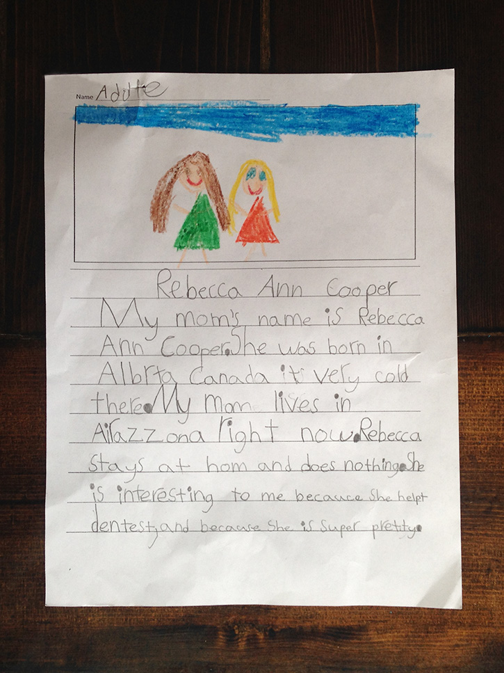 """""""My Mom Does Nothing""""   A Mom's Answer to a Child's View of Stay-at-Home Moms"""