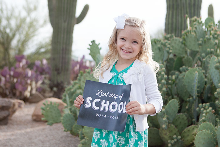 Snap a quick photo to document your child's growth at the end of the school year using this free printable Last Day of School sign!