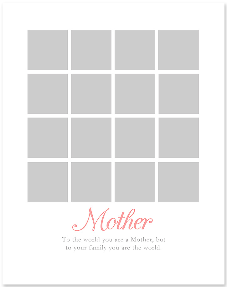 Simple MotherS Day Gift  Diy Photo Collage For Mom