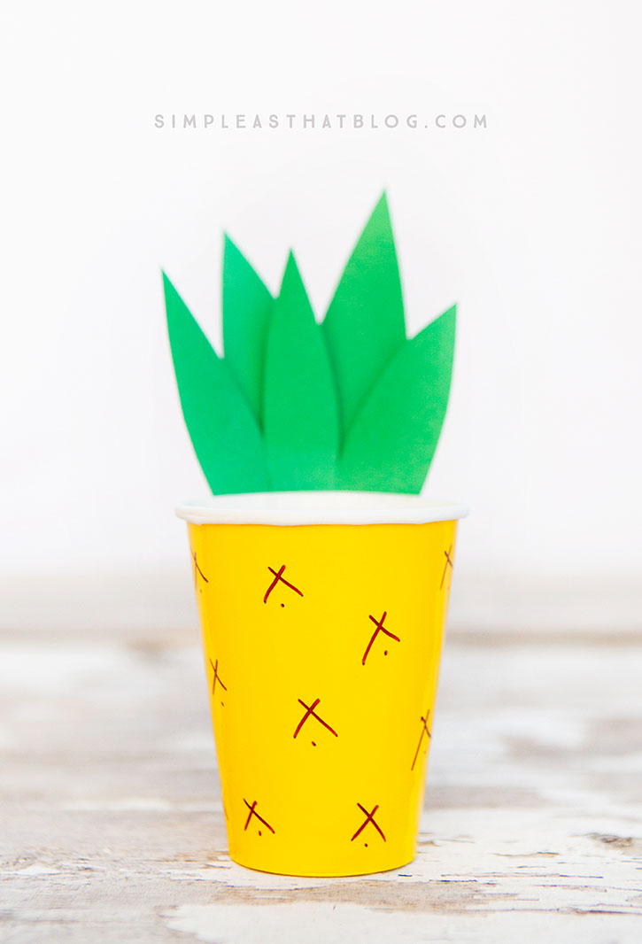 Pineapple Paper Cup Craft