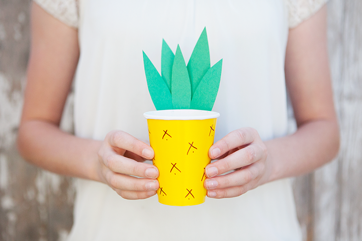 Pineapple Cup Craft
