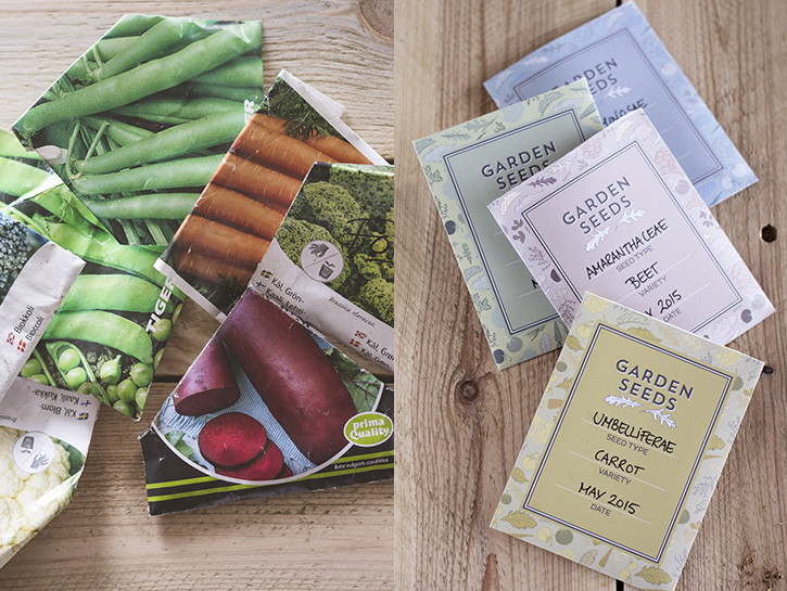 It's that time of year, time to start making plans for your Summer garden. Get your seeds organized with these beautiful, free printable seed packets!