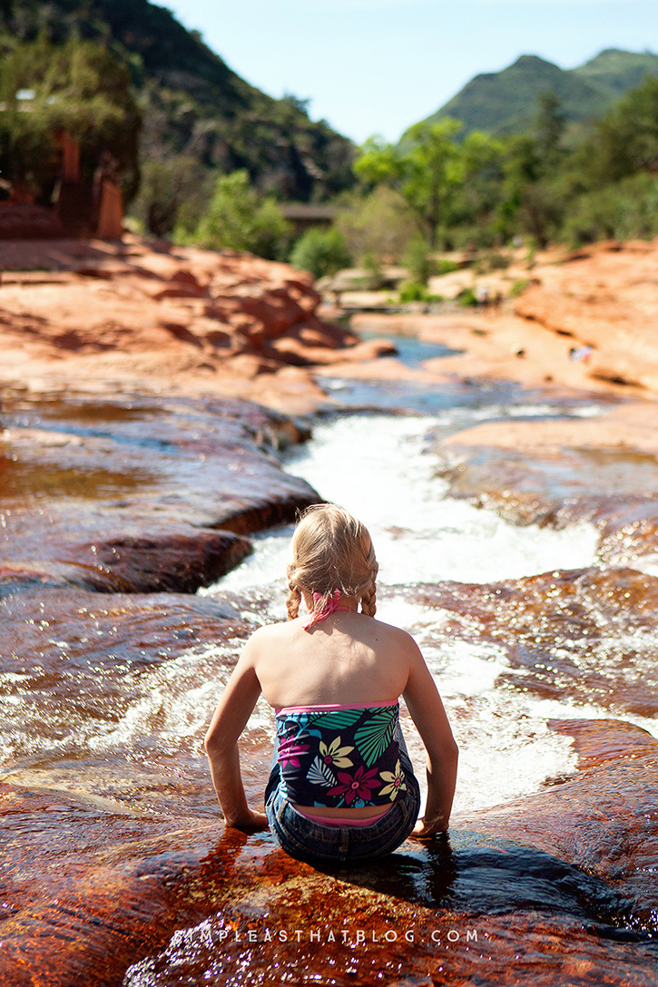 Explore the natural waterslides and the wonders of Oak Creek Canyon at Slide Rock State Park