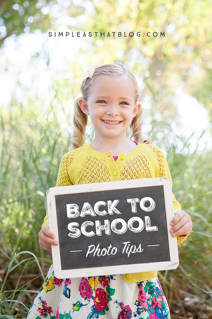 Capture memorable back to school photos with these quick tips and our FREE printable back to school sign!