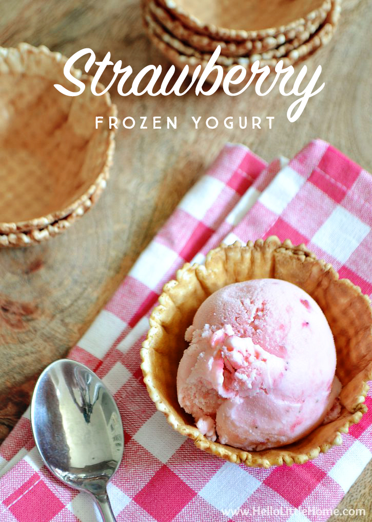 This Strawberry Frozen Yogurt is a delicious summer treat that couldn't be easier to make!