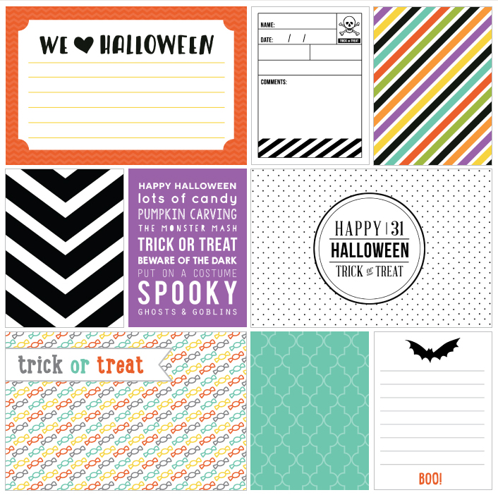 Printable Halloween Journaling cards