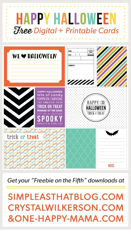 Halloween Journaling and Filler Cards