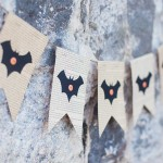 Bat Book Page Banner for Halloween