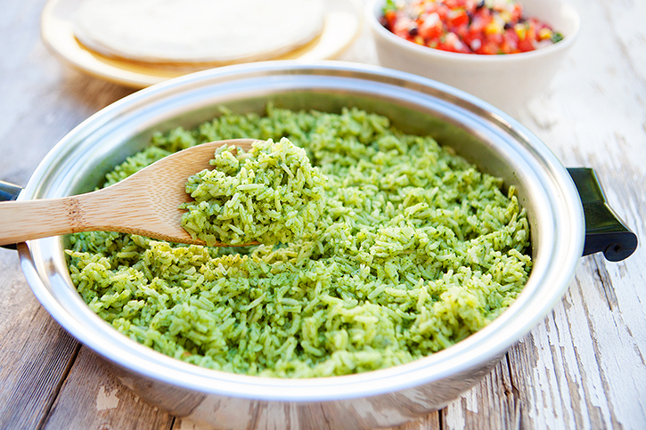 Mexican Green Rice (Arroz Verde) Recipe - simple as that