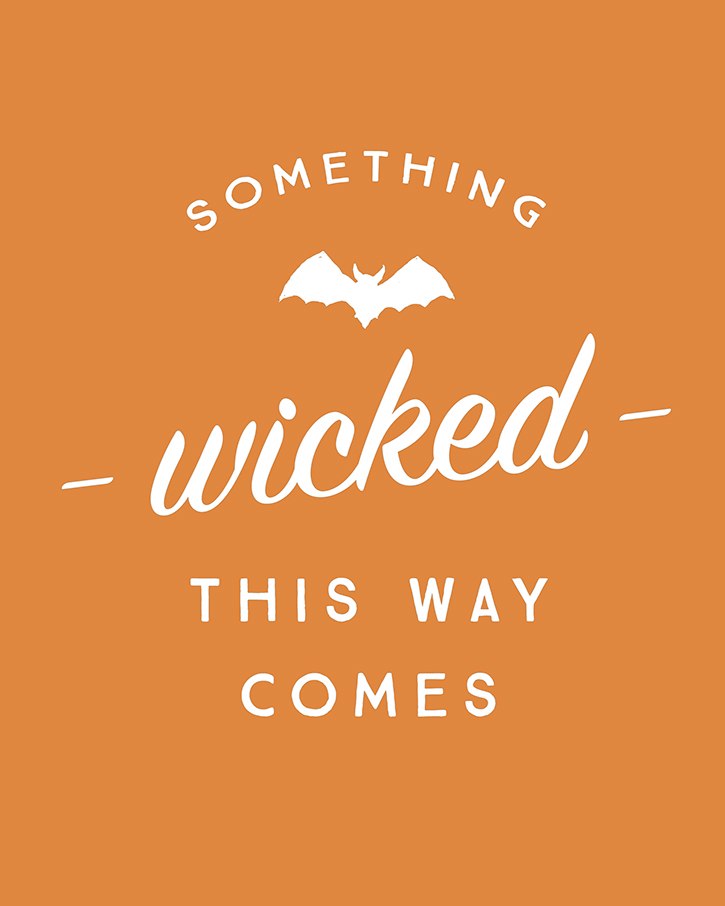Something Wicked Halloween Print
