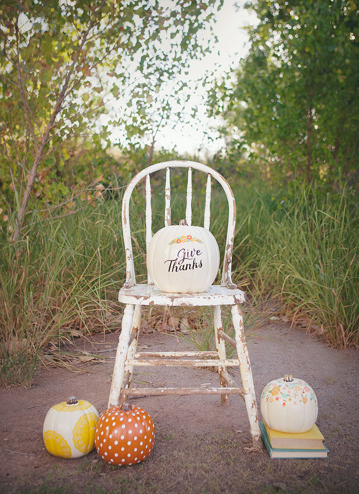 Hand Painted Pumpkins from As Simple as That  |  25 Creative DIY Pumpkins at www.andersonandgrant.com