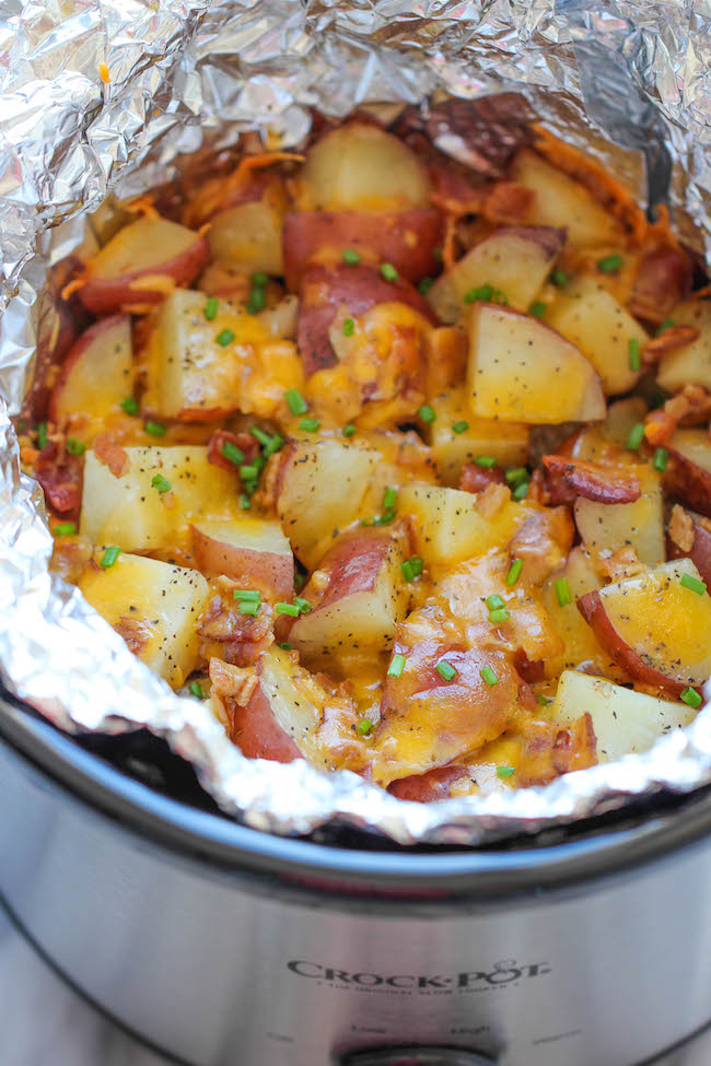 Slow Cooker Cheesy Ranch Bacon Potatoes