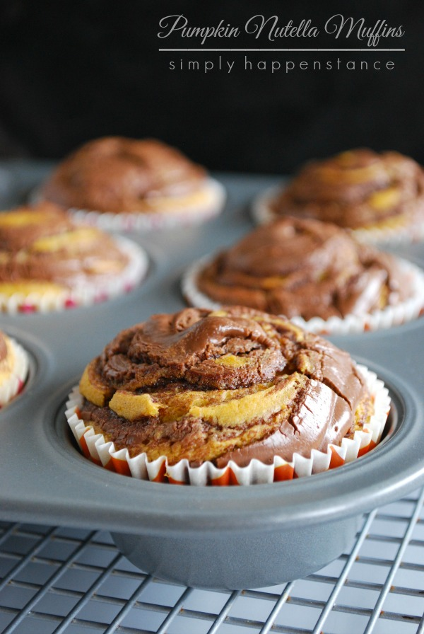 Pumpkin Nutella Muffins for Breakfast