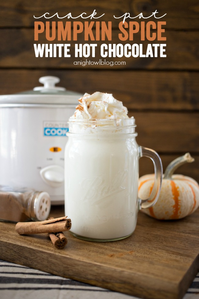 Crock pot Pumpkin Spice Hot Chocolate