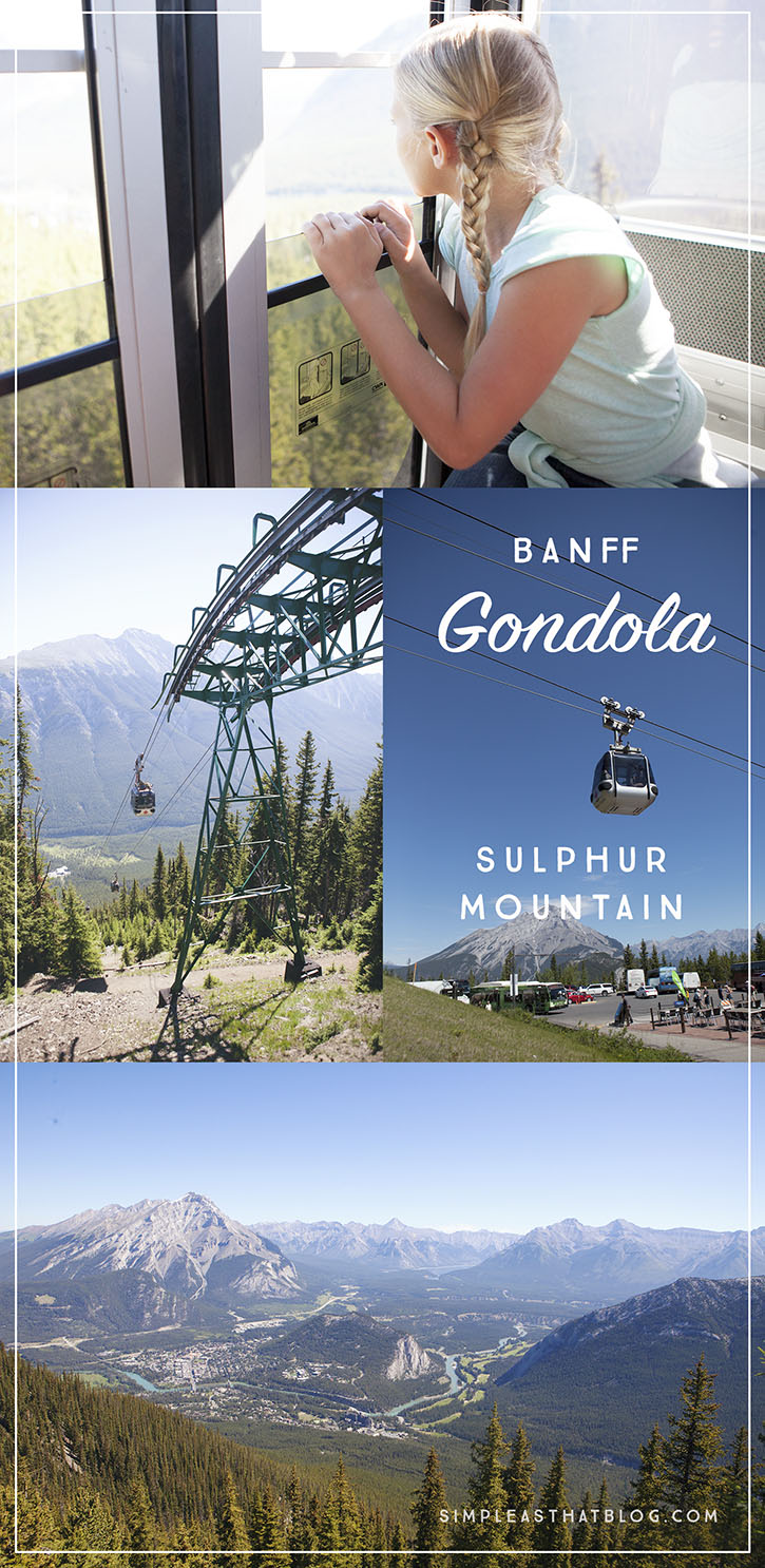 Panoramic views of Banff and the Canadian Rockies from the Banff Gondola.