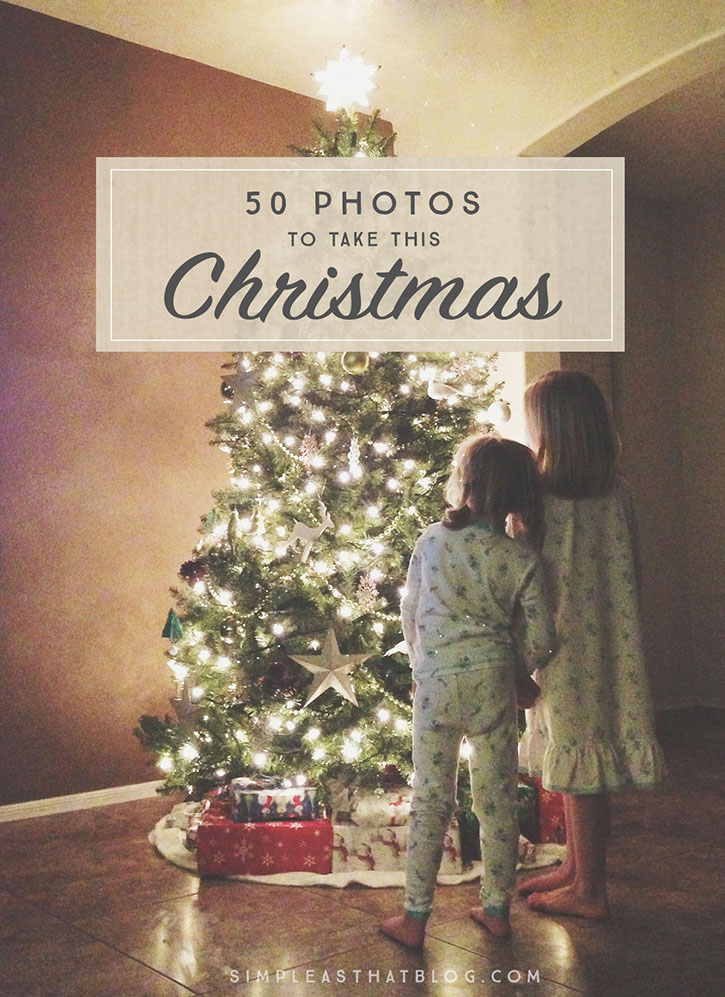 The holidays will soon be upon us and we all want to capture the wonder and beauty of this time of year. Here is a printable list of 50 photo ideas and photography prompts to get you inspired!
