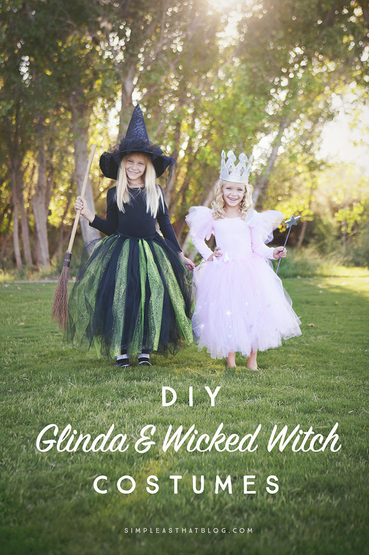 DIY Glinda the Good Witch and Wicked Witch of the West Wizard of Oz costumes that  sc 1 st  Simple as That Blogu0027s & DIY Glinda and Wicked Witch of the West Halloween Costumes