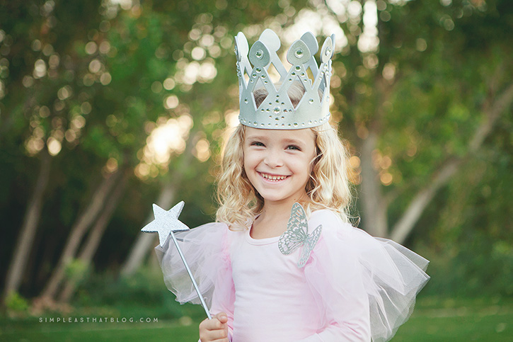 DIY Glinda the Good Witch Wizard of Oz Halloween costume that requires little to no sewing  sc 1 st  Simple as That Blogu0027s & DIY Glinda and Wicked Witch of the West Halloween Costumes