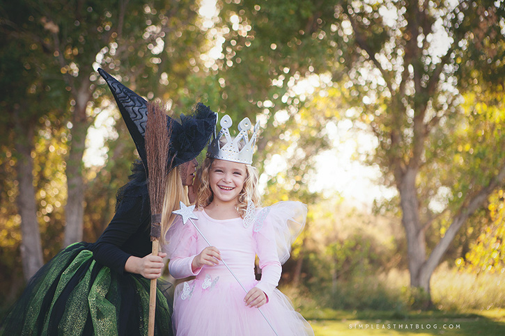 DIY Glinda the Good Witch and Wicked Witch of the West Wizard of Oz costumes that  sc 1 st  Simple as That Blog & Blog - Simple as That