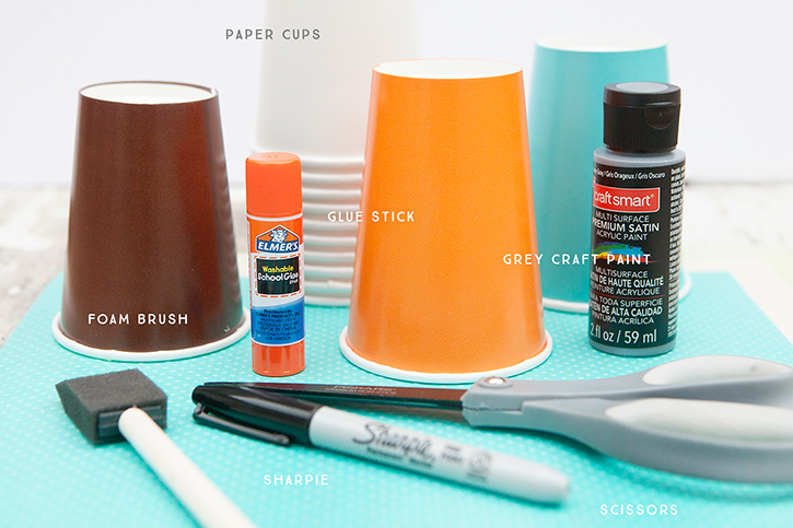 Woodland Creature Cup Craft Supplies