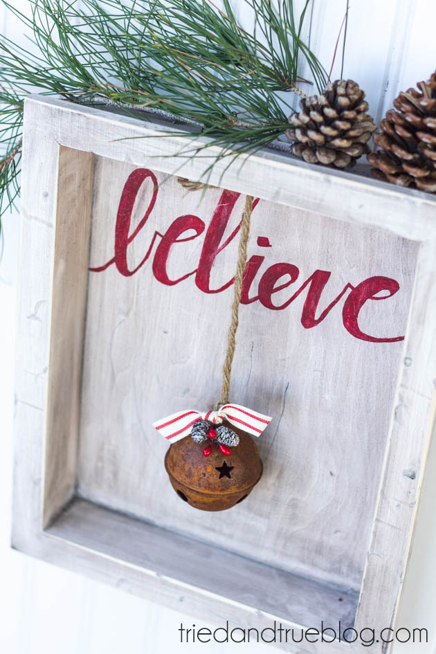Believe Rustic Christmas Art 10