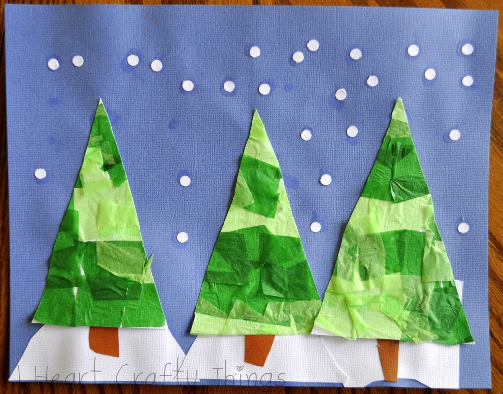 Christmas Tree Tissue Craft