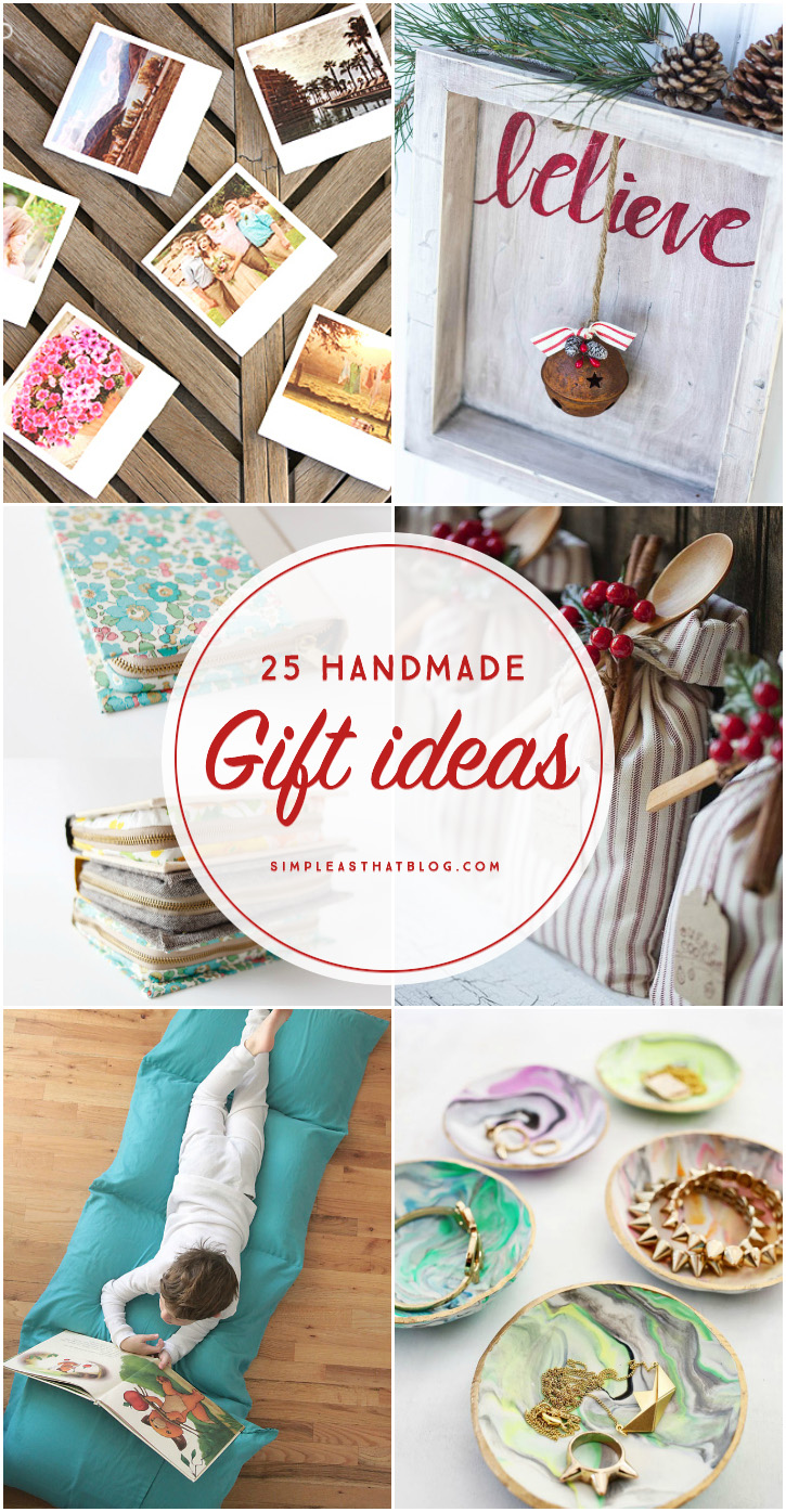 25 handmade gift ideas for Handmade things