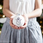 DIY Children's Sharpie Art Ornaments