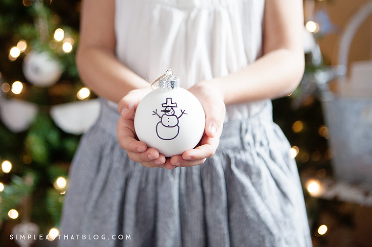 Turn your child's beautiful artwork into a simple keepsake ornament.